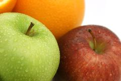 Apples and oranges - stock photo