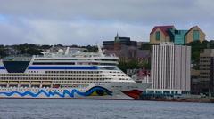 Cruise ship AidaDiva Stock Footage