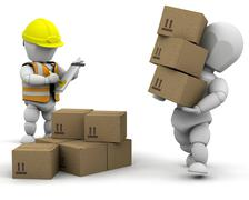 3d removal men Stock Photos