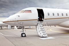 White private business jet Kuvituskuvat