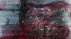 Horror static words eye blood - stock footage