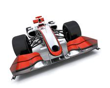 3d render of a formula one car - stock photo