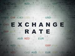 Stock Illustration of Currency concept: Exchange Rate on Digital Paper background