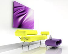 3d render of sofa - stock photo