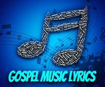 Gospel Music Lyrics Represents Christian Teaching And Evangelist Stock Illustration