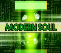 Soul Music Indicates Twenty First Century And Modern - stock illustration
