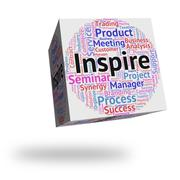 Inspire Word Shows Spur On And Encourages Stock Illustration