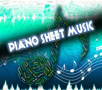 Piano Sheet Music Means Musical Symbols And Books Piirros