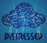 Distressed Word Means Worked Up And Anguish Stock Illustration