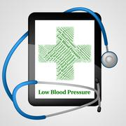 Low Blood Pressure Represents Ill Health And Ailment - stock illustration