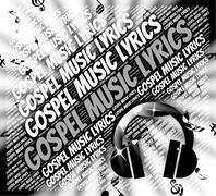 Stock Illustration of Gospel Music Lyrics Shows Christian Teaching And Evangelists