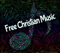 Free Christian Music Indicates Sound Track And Audio Stock Illustration