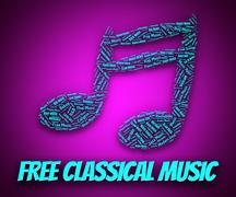 Stock Illustration of Free Classical Music Means No Charge And Gratis