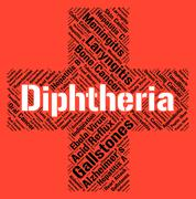 Stock Illustration of Diphtheria Word Means Corynebacterium Diphtheriae And Affliction