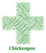 Chickenpox Illness Represents Poor Health And Affliction Stock Illustration