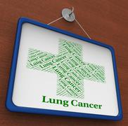 Lung Cancer Indicates Malignant Growth And Ailment - stock illustration