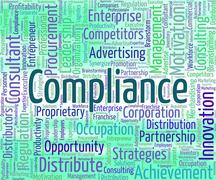 Stock Illustration of Compliance Word Represents Agree To And Agreement