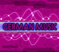 German Music Indicates Sound Tracks And Deutsche Stock Illustration