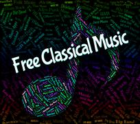 Free Classical Music Shows No Charge And Acoustic Stock Illustration