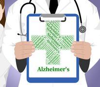 Stock Illustration of Alzheimer's Disease Shows Mental Deterioration And Affliction