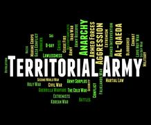 Territorial Army Means Armed Services And Tavr Stock Illustration