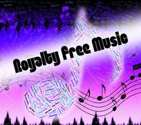 Royalty Free Music Shows Sound Tracks And Acoustic - stock illustration