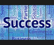 Stock Illustration of Success Word Means Victory Progress And Successful
