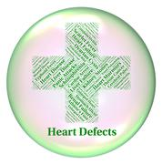 Heart Defects Means Anomaly Blemish And Errors - stock illustration