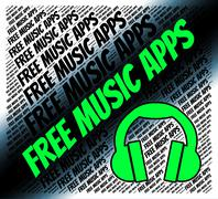 Free Music Apps Indicates Sound Track And Applications Stock Illustration