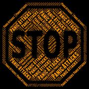 Stop Panic Indicates Danger Prohibited And Control Stock Illustration