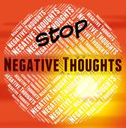 Stop Negative Thoughts Means Reject Prohibited And Prohibit Stock Illustration