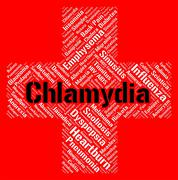 Chlamydia Word Represents Sexually Transmitted Disease And Std Stock Illustration