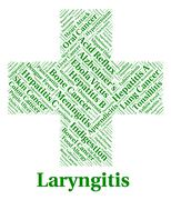 Laryngitis Illness Indicates Poor Health And Affliction Stock Illustration