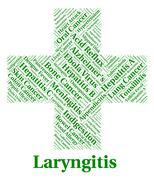 Stock Illustration of Laryngitis Illness Indicates Poor Health And Affliction