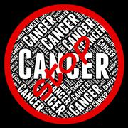 Stop Cancer Indicates Warning Sign And Caution Piirros