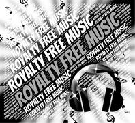 Royalty Free Music Means Sound Track And Rf Stock Illustration