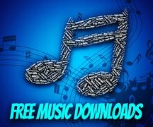 Free Music Downloads Shows No Charge And Complimentary Stock Illustration