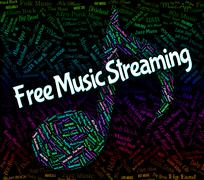 Free Music Streaming Shows Sound Track And Acoustic Stock Illustration