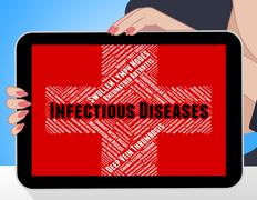 Infectious Diseases Means Ill Health And Ailment - stock illustration