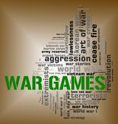 War Games Represents Military Action And Battle Piirros