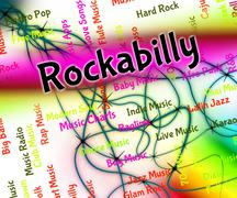 Stock Illustration of Rockabilly Music Shows Sound Tracks And Audio