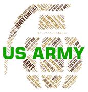 Us Army Indicates The United States And Department - stock illustration