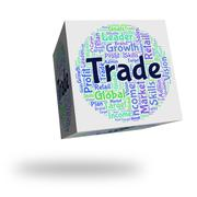 Trade Word Represents Corporation Import And Sell Stock Illustration