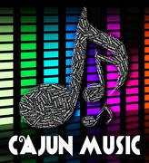 Stock Illustration of Cajun Music Shows Sound Tracks And Acoustic