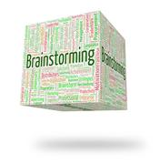 Brainstorming Word Shows Put Heads Together And Analyze - stock illustration