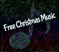 Free Christmas Music Shows Sound Tracks And Yuletide Stock Illustration