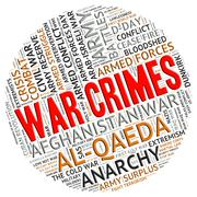 War Crimes Indicates Military Action And Clash Piirros