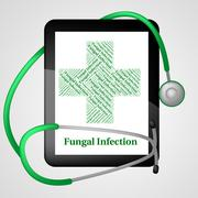 Stock Illustration of Fungal Infection Represents Poor Health And Affliction