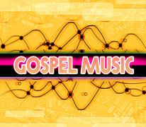 Stock Illustration of Gospel Music Means Sound Tracks And Christ
