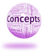 Concepts Word Represents Conception Thinking And Ideas - stock illustration